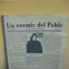 Coleccionismo de Revistas y Periódicos: UN ENEMIC DEL POBLE. NUM.1. J. SALVAT PAPASEIT. 1917. + PROA + ARC VOLTAIC(FACSIMIL LETERADURA 1976). Lote 99210131
