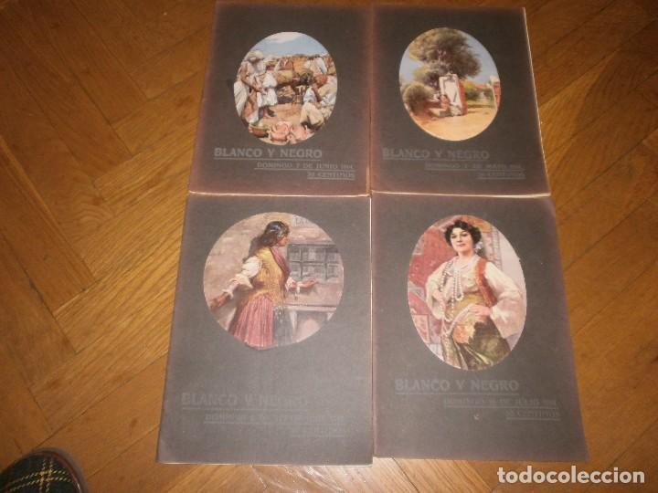 LOTE 4 REVISTAS BLANCO Y NEGRO AÑO 1914 (Coleccionismo - Revistas y Periódicos Antiguos (hasta 1.939))