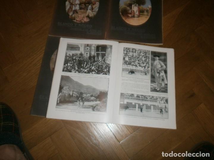 Coleccionismo de Revistas y Periódicos: Lote 4 revistas Blanco y Negro año 1914 - Foto 3 - 99317779