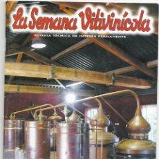 Coleccionismo de Revistas y Periódicos: LA SEMANA VITIVINICOLA.. Lote 99392983