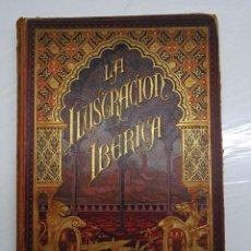 Coleccionismo de Revistas y Periódicos: LA ILUSTRACION IBERICA AÑO 1891 COMPLETO EN UN VOLUMEN CON BELLA ENCUADERNACION ORIGINAL IMPRESA. Lote 99641867