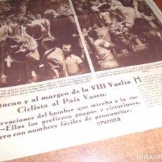 Coleccionismo de Revistas y Periódicos: RETAL PRENSA 1935: VUELTA CICLISTA AL PAIS VASCO, VITORIA, SAN SEBASTIAN, ELIZONDO, ZARAUZ.. Lote 99662147