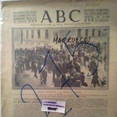 Coleccionismo de Revistas y Periódicos: MARRUECOS. GUERRA. CRONICAS. MANRIQUE DE LARA. SINESIO DELGADO. 1920.. Lote 99413603