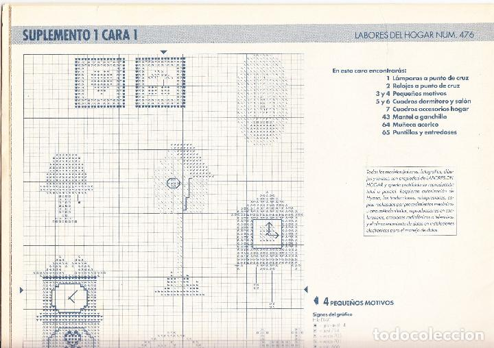 Hoja Desplegable Dos Caras Suplemento Y Cuaderno Labores Del Hogar Nº 476