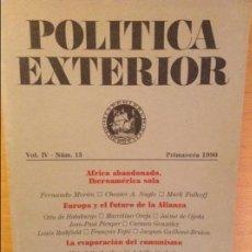 Coleccionismo de Revistas y Periódicos: POLITICA EXTERIOR VOL. IV Nº 15 (LA EVAPORACION DEL COMUNISMO, EUROPA Y EL FUTURO DE LA ALIANZA). Lote 99999195