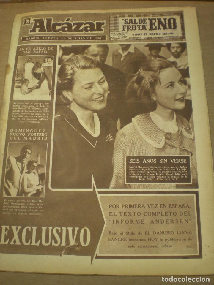 EL ALCAZAR 11 DE JULIO 1957 (Coleccionismo - Revistas y Periódicos Modernos (a partir de 1.940) - Otros)