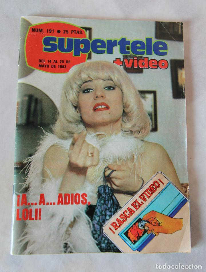 Coleccionismo de Revistas y Periódicos: Revista Supertele nº 191 - Año 1983 - Mazinger Z - Un Dos Tres La Loli - Excelente estado - Foto 3 - 100132683