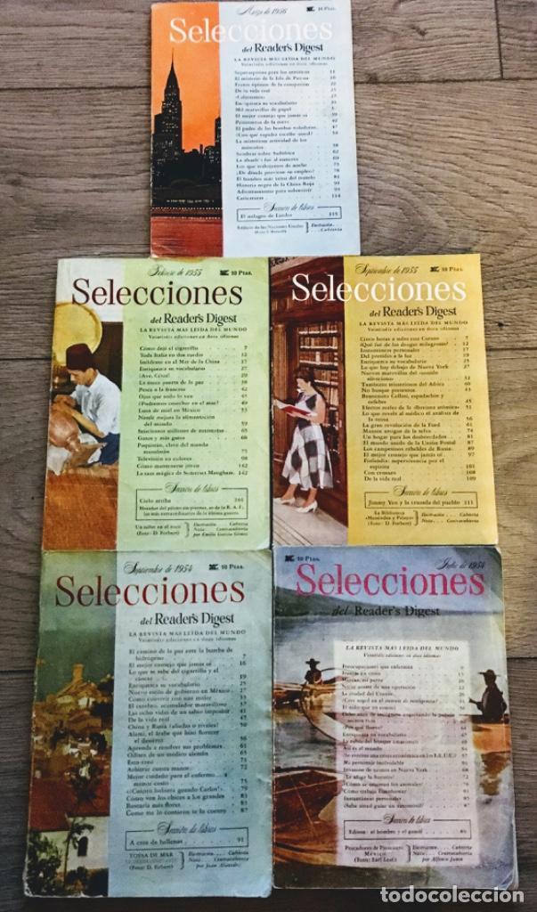 6 REVISTAS ANTIGUAS SELECCIONES 1954 (Coleccionismo - Revistas y Periódicos Antiguos (hasta 1.939))