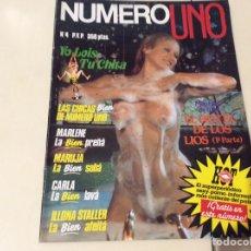 Coleccionismo de Revistas y Periódicos: NUMERO UNO Nº 4 ILLONA STALLER , REVISTA EROTICA DE LOS 80. Lote 107904567