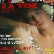 Coleccionismo de Revistas y Periódicos: REVISTA EROTICA LA VOZ DE ROMPEOLAS Nº 10 MARIE CHRISTINE BARRAULT PUNK ROCK MADAME CLAUDE 1977 . Lote 100217267