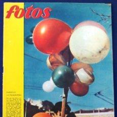 Coleccionismo de Revistas y Periódicos: REVISTA FOTOS, NÚM, 1.198,AÑO XXIII, 13 DE FEBRERO 1960. SÍMBOLO PRIMAVERA. SEMANARIO GRÁFICO.. Lote 100251715