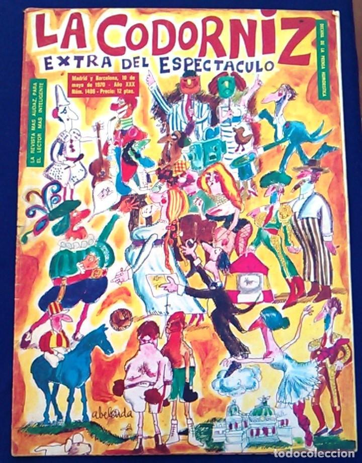 REVISTA DE HUMOR LA CODORNIZ, 10 MAYO 1970, AÑO XXX,Nº 1486. EXTRA DEL ESPECTÁCULO. PRENSA. 1.486. (Coleccionismo - Revistas y Periódicos Modernos (a partir de 1.940) - Otros)