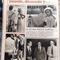 Coleccionismo de Revistas y Periódicos: RECORTE ROCIO DURCAL ANTONIO MORALES JUNIOR 1973. Lote 100275411