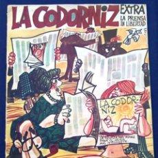 Coleccionismo de Revistas y Periódicos: REVISTA DE HUMOR LA CODORNIZ, 7 MAYO 1967, AÑO XXVII,Nº 1329. EXTRA LA PRENSA EN LIBERTAD.1.329.. Lote 100322211
