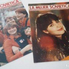 """Coleccionismo de Revistas y Periódicos: REVISTA """"LA MUJER SOVIÉTICA"""". AÑOS 80. DOS EJEMPLARES DE 1984 Y 1986 . Lote 100383479"""