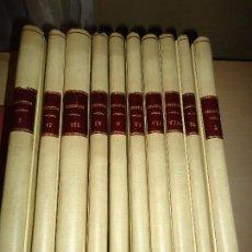 Coleccionismo de Revistas y Periódicos: REVISTA BIBLIOFILIA. 10 VOLÚMENES. (COMPLETA). VALENCIA, EDIT. CASTALIA 1949-1957. TELA. A ESTRENAR. Lote 100399323