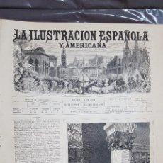 Colecionismo de Revistas e Jornais: LA ILUSTRACION ESPAÑOLA Y AMERICANA.- NUMERO 24 DEL 30 DE JUNIO DE 1876 . Lote 100423479