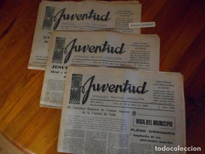 JUVENTUD - SEMANARIO NACIONAL SINDICALISTA - VALLS - 1122 - 1157 - 1160 - FALANGE (Coleccionismo - Revistas y Periódicos Modernos (a partir de 1.940) - Otros)