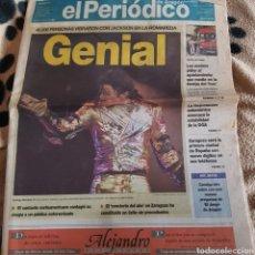 Coleccionismo de Revistas y Periódicos: EL PERIÓDICO DE ARAGÓN. 25 SEPTIEMBRE 1996. PORTADA CONCIERTO DE MICHAEL JACKSON EN ZARAGOZA. Lote 100567027