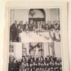 Coleccionismo de Revistas y Periódicos: HOJA REVISTA ORIGINAL ANTIGUA.BANQUETE HUMORISTAS MADRID. TEMPOLO CHILE, ACADEMIA JURISPRUDENCIA. Lote 100597203