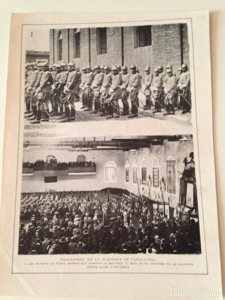 HOJA REVISTA ORIGINAL ANTIGUA. ACADEMIA CABALLERIA VALLADOLID.UNIVERSIDAD CENTRAL MADRID, ATENEO (Coleccionismo - Revistas y Periódicos Antiguos (hasta 1.939))