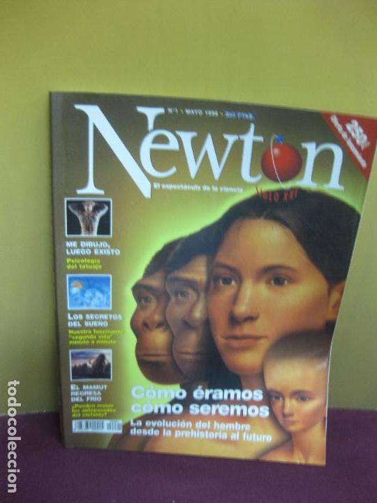 REVISTA NEWTON Nº 1. MAYO 1998. LA EVOLUCION DEL HOMBRE DE LA PREHISTORIA AL FUTURO (Coleccionismo - Revistas y Periódicos Modernos (a partir de 1.940) - Otros)