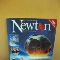 Coleccionismo de Revistas y Periódicos: REVISTA NEWTON Nº 2. JUNIO 1998. LOS PELIGROS DEL CIELO...RADIACIONES COSMICAS, ASTEROIDES.... Lote 100636363
