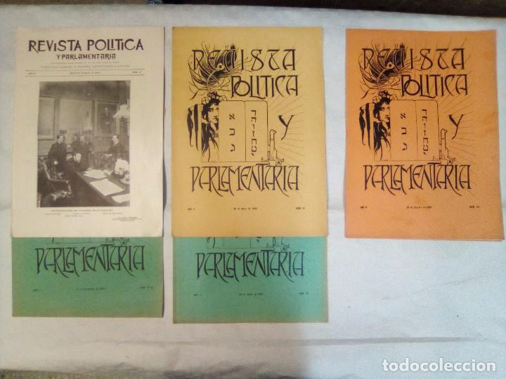REVISTA POLÍTICA Y PARLAMENTARIA (5 NÚMEROS SUELTOS) (1900-1901) (Coleccionismo - Revistas y Periódicos Antiguos (hasta 1.939))