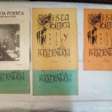 Coleccionismo de Revistas y Periódicos: REVISTA POLÍTICA Y PARLAMENTARIA (5 NÚMEROS SUELTOS) (1900-1901) . Lote 100660355