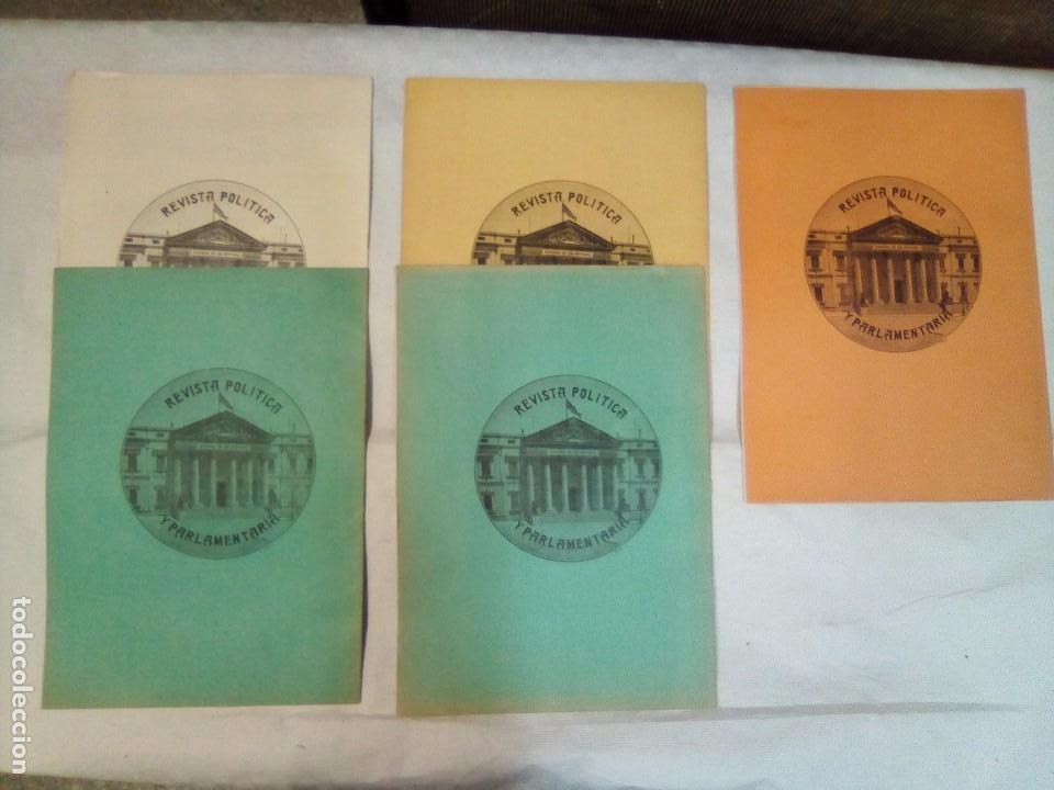 Coleccionismo de Revistas y Periódicos: Revista política y parlamentaria (5 números sueltos) (1900-1901) - Foto 2 - 100660355