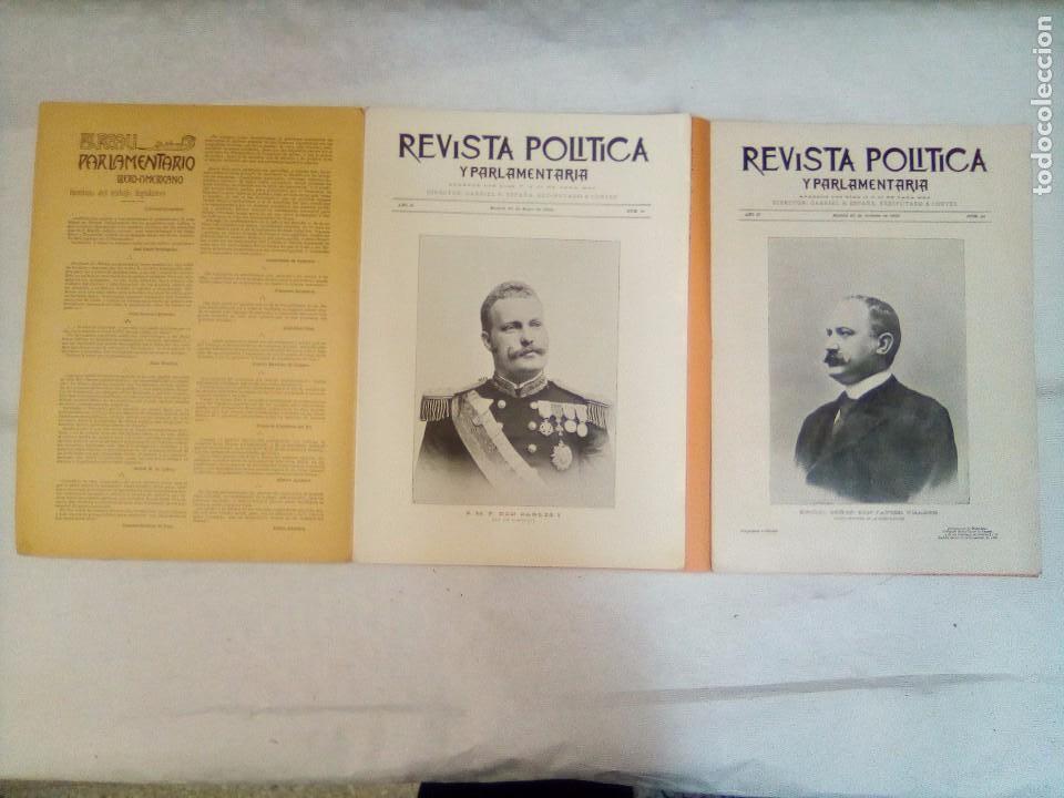 Coleccionismo de Revistas y Periódicos: Revista política y parlamentaria (5 números sueltos) (1900-1901) - Foto 3 - 100660355