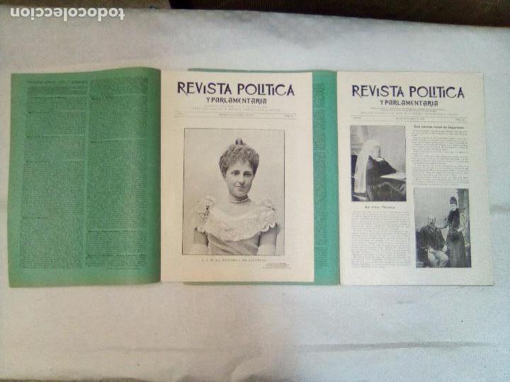 Coleccionismo de Revistas y Periódicos: Revista política y parlamentaria (5 números sueltos) (1900-1901) - Foto 4 - 100660355