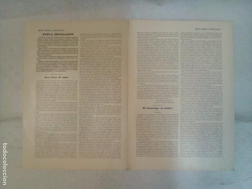 Coleccionismo de Revistas y Periódicos: Revista política y parlamentaria (5 números sueltos) (1900-1901) - Foto 5 - 100660355