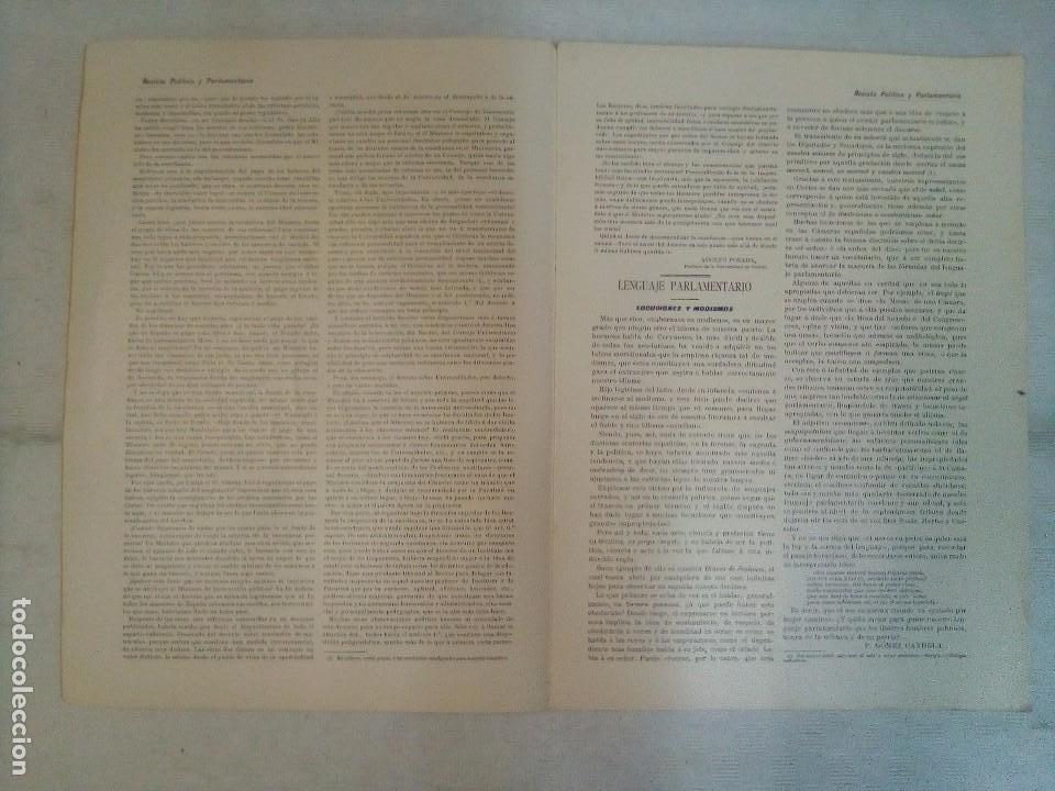 Coleccionismo de Revistas y Periódicos: Revista política y parlamentaria (5 números sueltos) (1900-1901) - Foto 7 - 100660355