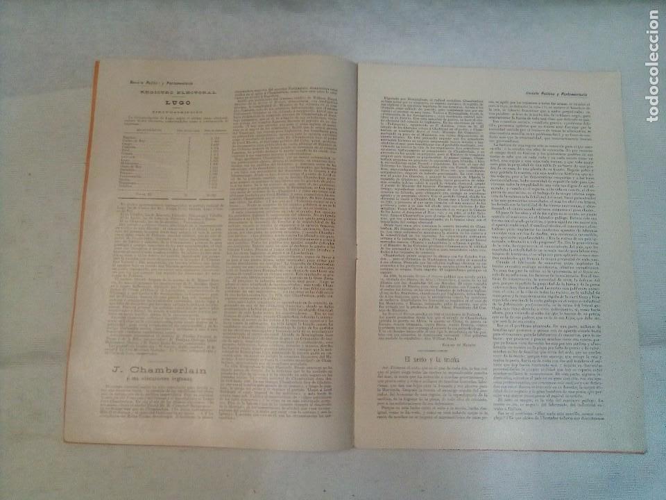 Coleccionismo de Revistas y Periódicos: Revista política y parlamentaria (5 números sueltos) (1900-1901) - Foto 9 - 100660355