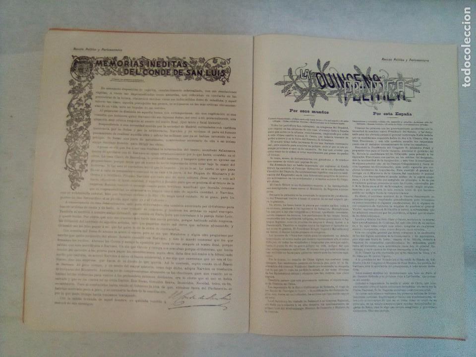 Coleccionismo de Revistas y Periódicos: Revista política y parlamentaria (5 números sueltos) (1900-1901) - Foto 10 - 100660355