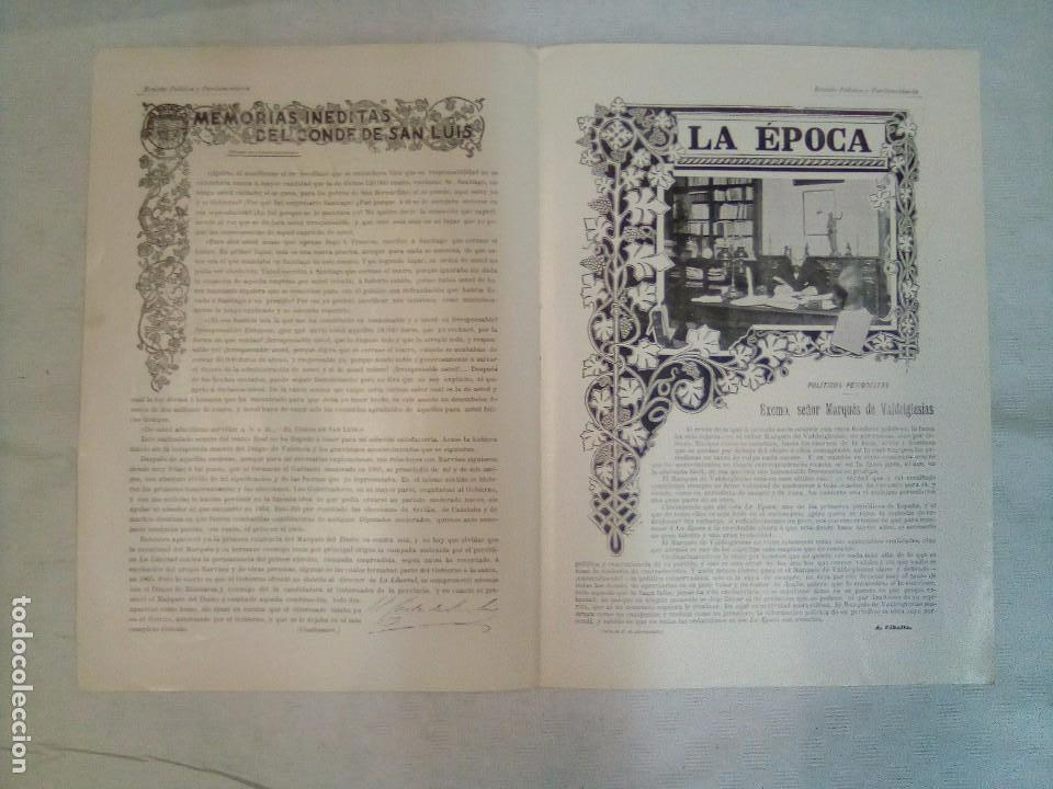 Coleccionismo de Revistas y Periódicos: Revista política y parlamentaria (5 números sueltos) (1900-1901) - Foto 13 - 100660355