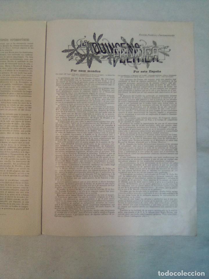 Coleccionismo de Revistas y Periódicos: Revista política y parlamentaria (5 números sueltos) (1900-1901) - Foto 14 - 100660355