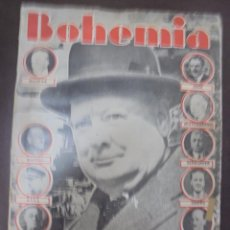 Coleccionismo de Revistas y Periódicos: REVISTA BOHEMIA. 1941. Nº 44. LOS HOMBRES DE CHURCHILL, CAPITAN SANCHEZ, BEAVERBROOK, VASCOS. Lote 100690691