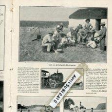 Coleccionismo de Revistas y Periódicos: REVISTA AÑO 1906 SIEGA EN ANDALUCIA GAZPACHO MAQUINA TRILLADORA CARRERA DE BICICLETAS EN VALENCIA . Lote 100691279