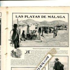 Coleccionismo de Revistas y Periódicos: REVISTA AÑO 1907 OJOS NEGROS LA PEDRERA DE SAGUNTO PLAYA DEL PEDREGALEJO LA PESCA EN MALAGA CHOZAS . Lote 100729803
