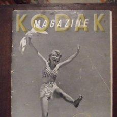 Coleccionismo de Revistas y Periódicos: REVISTA MAGAZINE KODAK AÑO 1937 - EDICION FRANCESA COMPLETA CON POSTER CENTRAL. Lote 101016167