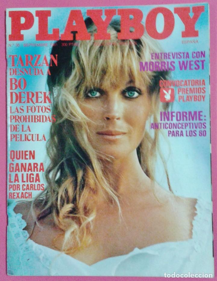 Revista Playboy Nº 35 Bo Derek Desnuda Morris West Futbol Liga Erotica Año 1981