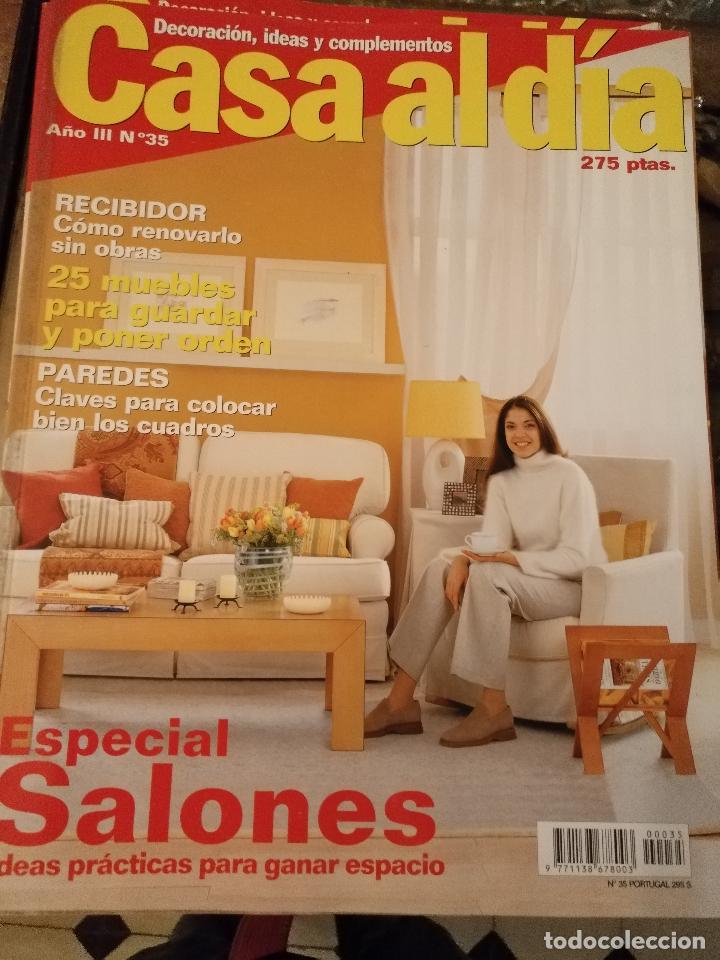 REVISTA DECORACION CASA AL DIA - DECORACION , IDEAS Y COMPLEMENTOS - N 35 ESPECIAL SALONES segunda mano