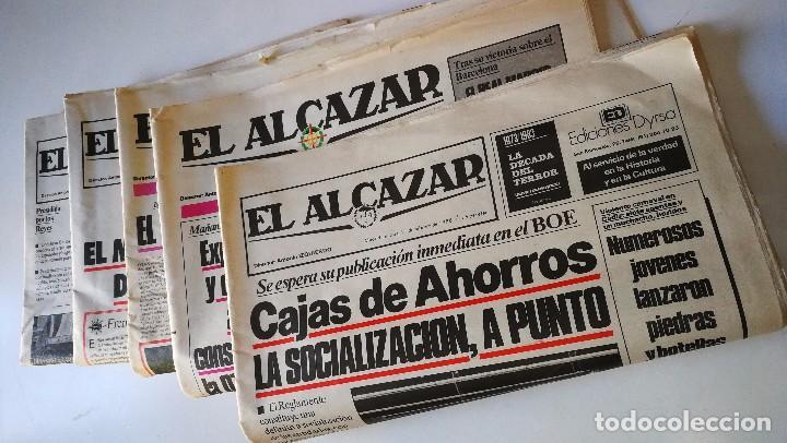 5 PERIODOCOS DE EL ALCAZAR, DE FECHAS,11-02/09-03/11-05 /22-07 /29-07-1986 (Coleccionismo - Revistas y Periódicos Modernos (a partir de 1.940) - Otros)