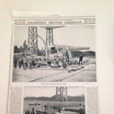 Coleccionismo de Revistas y Periódicos: HOJA REVISTA ORIGINAL 1915. INDUSTRIA MILITAR GERMANA. Lote 101342763