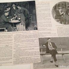 Coleccionismo de Revistas y Periódicos: ENTREVISTA PRENSA ORIGINAL 1915 AL TORERO RODOLFO GAONA. Lote 101343319