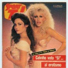 Coleccionismo de Revistas y Periódicos: SPORT TV - 1986 - MUJERES DE HOLLYWOOD, NINA FERRER, LYDIA BOSCH (UN DOS TRES), ENRIC CALPENA. Lote 101358515