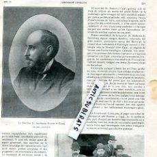 Coleccionismo de Revistas y Periódicos: REVISTA AÑO SANTIAGO RAMON Y CAJAL SANT SADURNI DE TAVERNOLES FUTBOL CLUB BARCELONA F. C. BARÇA . Lote 101368975