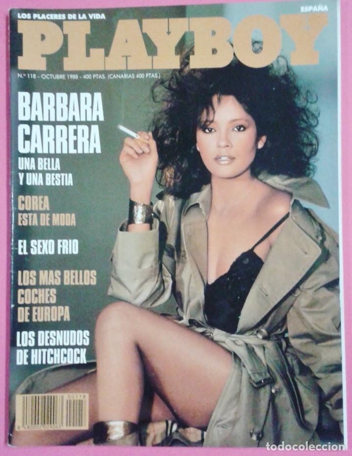 REVISTA PLAYBOY Nº 118 - BARBARA CARRERA - COREA - SEXO FRIO - DESNUDOS HITCHCOCK -EROTICA -AÑO 1988 (Coleccionismo - Revistas y Periódicos Modernos (a partir de 1.940) - Otros)